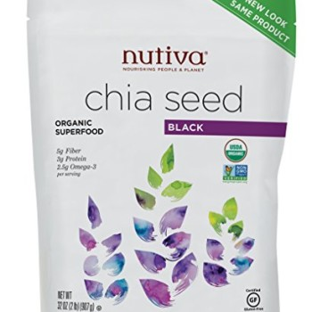 Nutiva Organic Chia Seeds Black, 32 Ounce